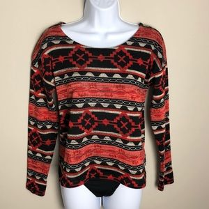 Forever 21 Patterned Sweater Size S